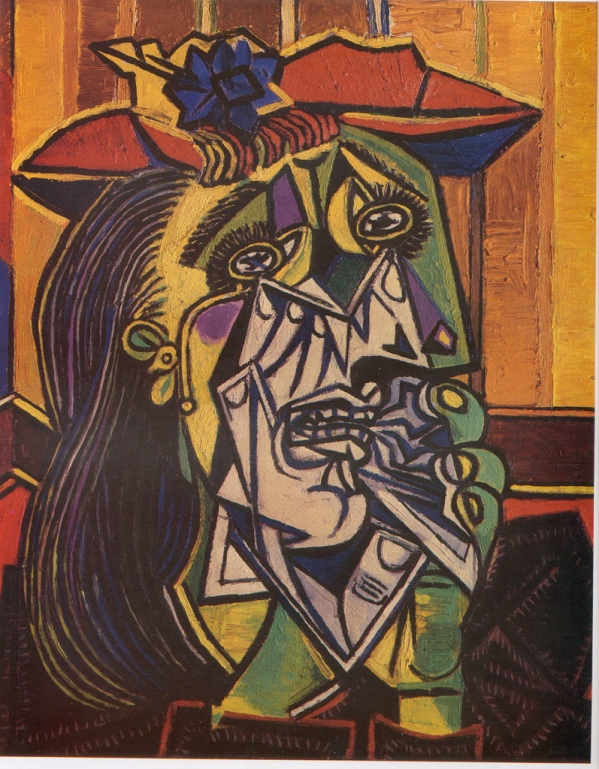 Classic Cubist art by Picasso, representing Chantal's experience on her post-op medication.
